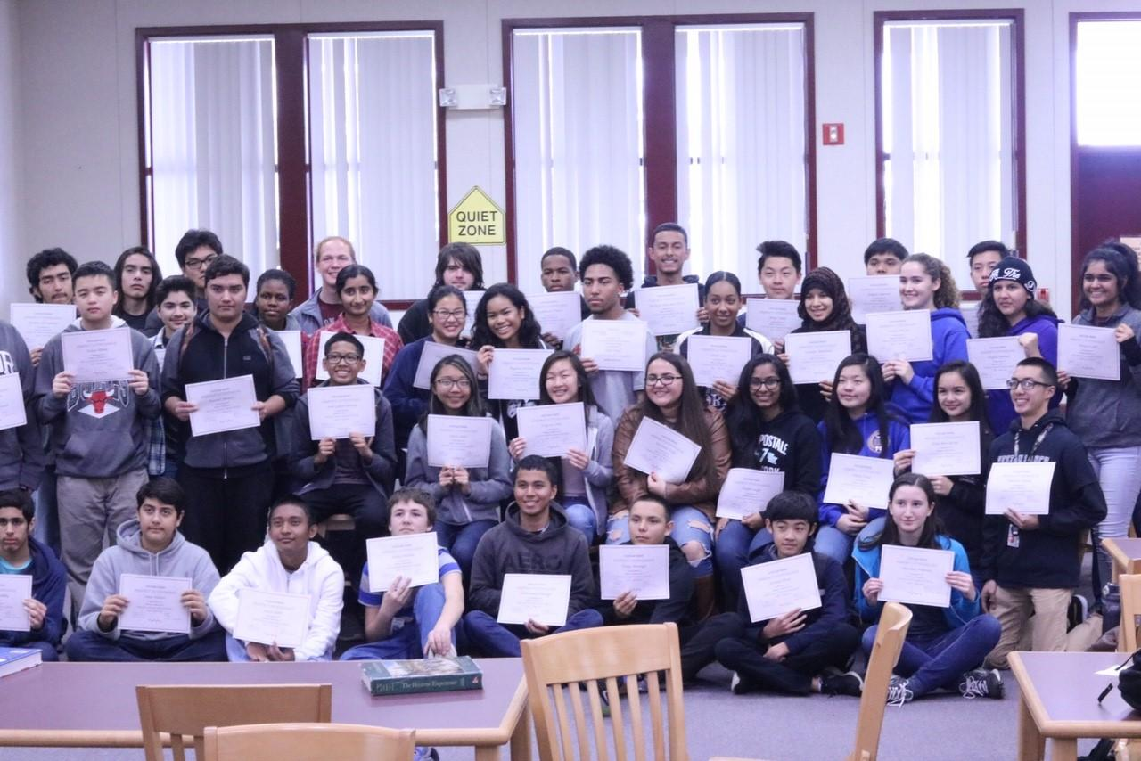 Weston Ranch students honored for their perfect attendance.