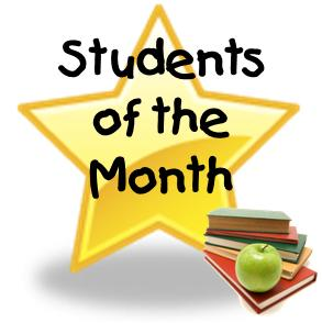 August Students of the Month Honored Today
